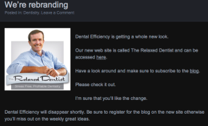 A great example of a blog post explaining a company's rebranding