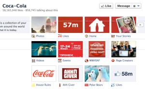 Coca-Cola's Facebook Tabs