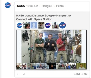 Astronaut Google Hangout
